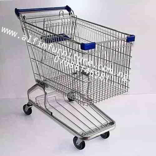 big supermarket shopping trolley cart