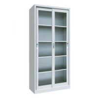 Sliding glass door metal cupboard cabinet