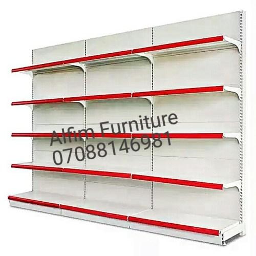 3-bay heavy duty supermarket wall shelves