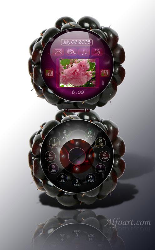 Blackberry Fruit Phone Tutorial