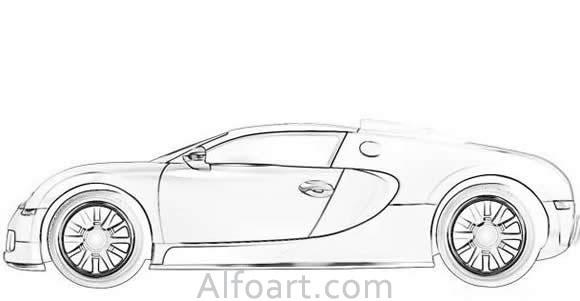 How to create a Bugatti Veyron illustration in Photoshop