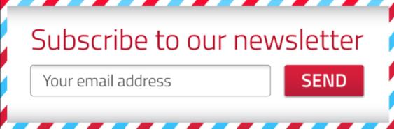 Newsletter sign up red white blue