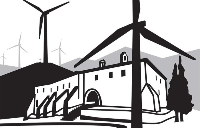Un segon projecte de central, per fer-la més atractiva, encerclava l'ermita de Puigcerver, i prometia falsa energia per l'edifici i diners (naturalment, no deia res dels aspectes negatius, destrucció del paisatge, de la tranquil·litat, transformació en zona industrial)