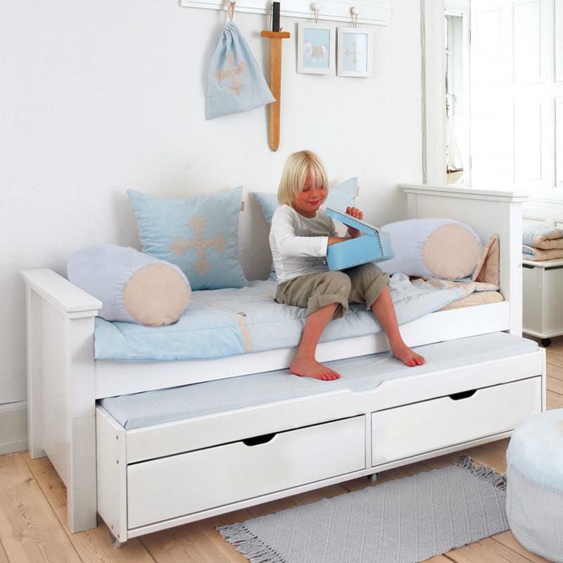 lit banquette 90x200 avec lit gigogne et tiroirs