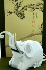 Arte figurativa giapponese Ito Jakuchu - Elefante bianco