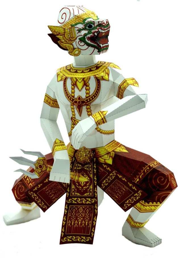 Maschere divinità thailandesi - Hanuman