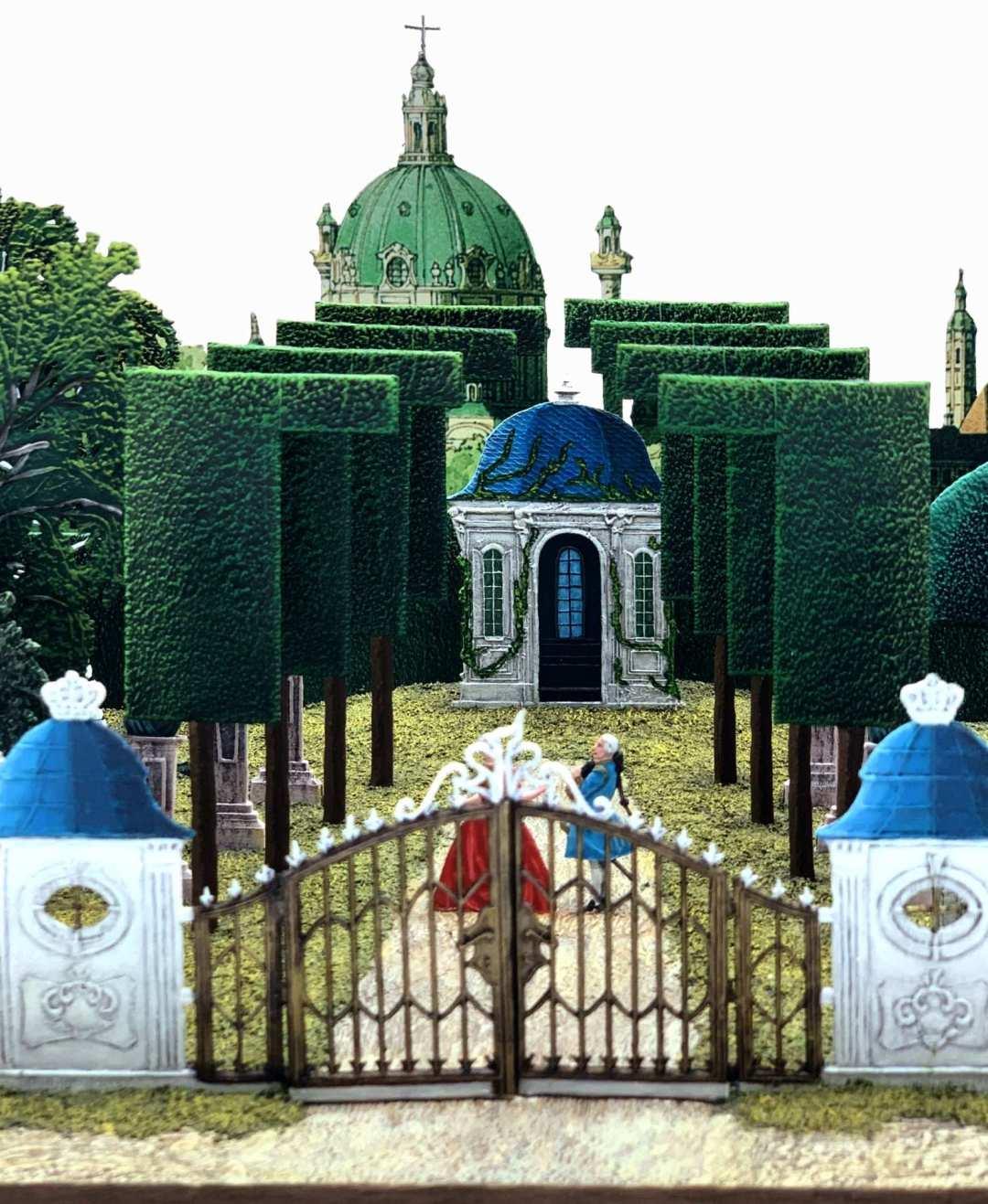 Zinnfiguren diorama – Parco barocco