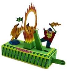 Circus Land - Tigre attraversa cerchio di fuoco