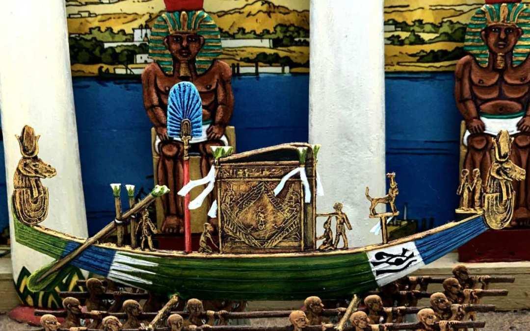 Zinnfiguren diorama – Festa di Opet a Luxor