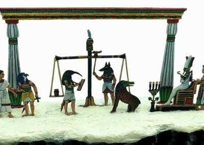 Zinnfiguren diorama – Il Giudizio di Osiride