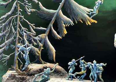 Zinnfiguren diorama – La notte di Valpurga