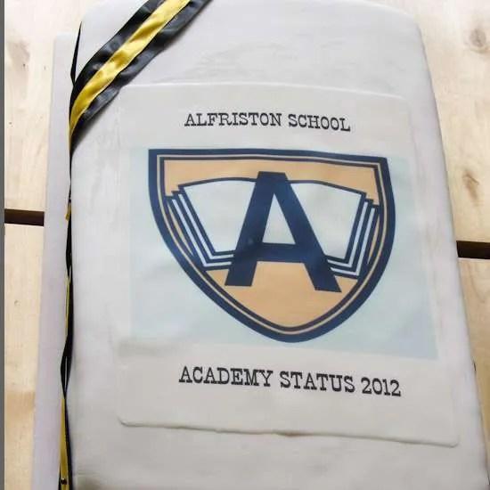 Alfriston School Academy Status 2012 Cake