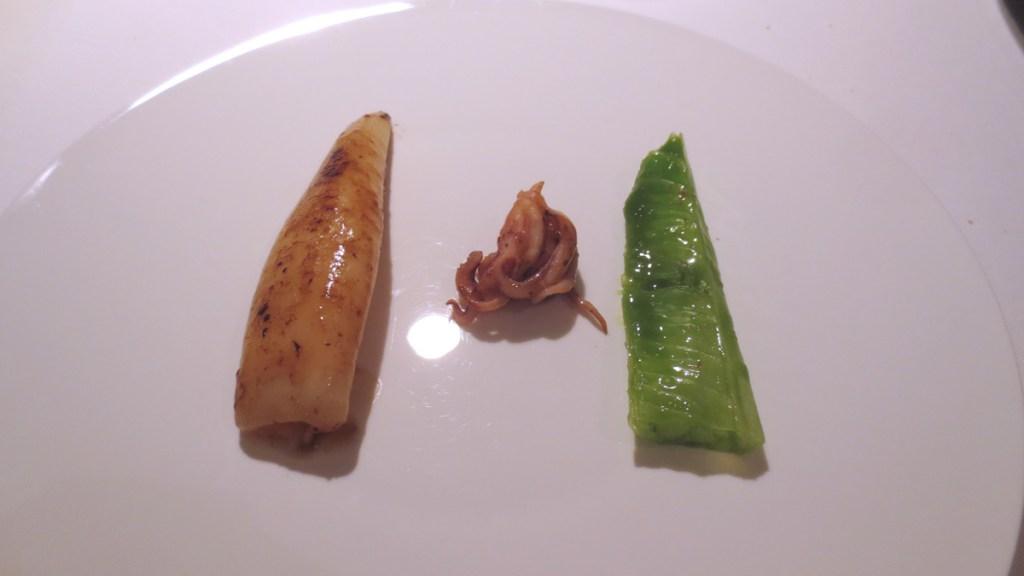 Calamaro, pepe e lattuga