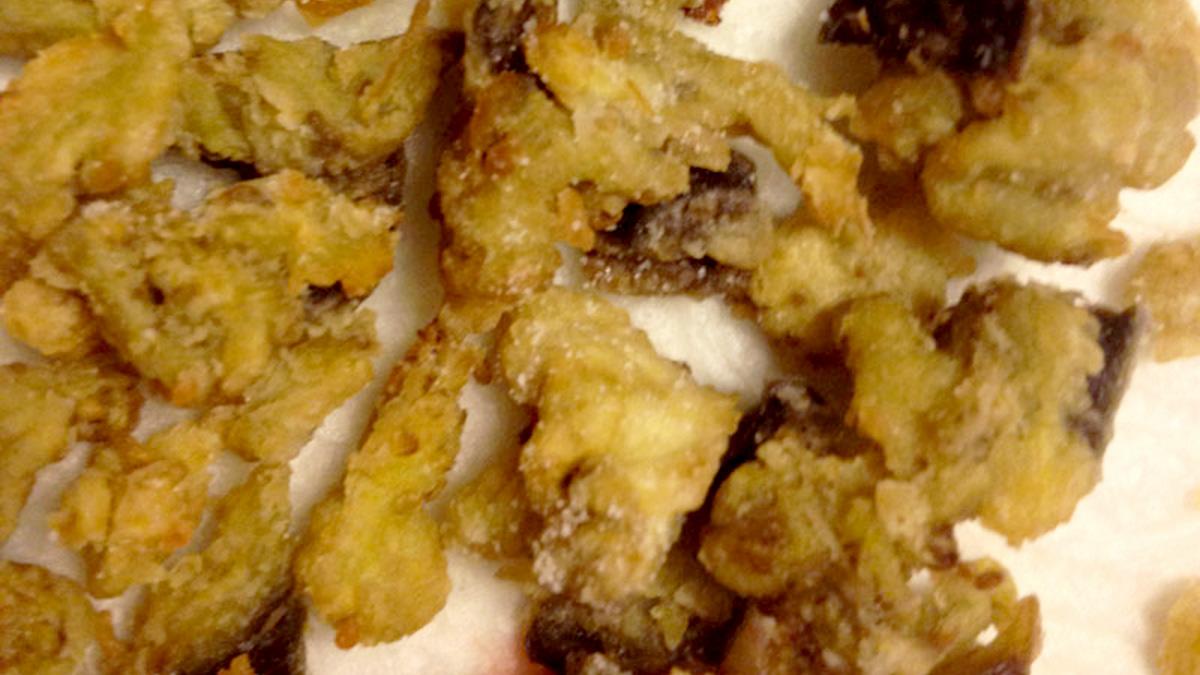 Melanzane fritte (che sembrano funghi)