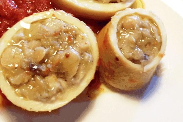 Calamari ripieni di fagioli
