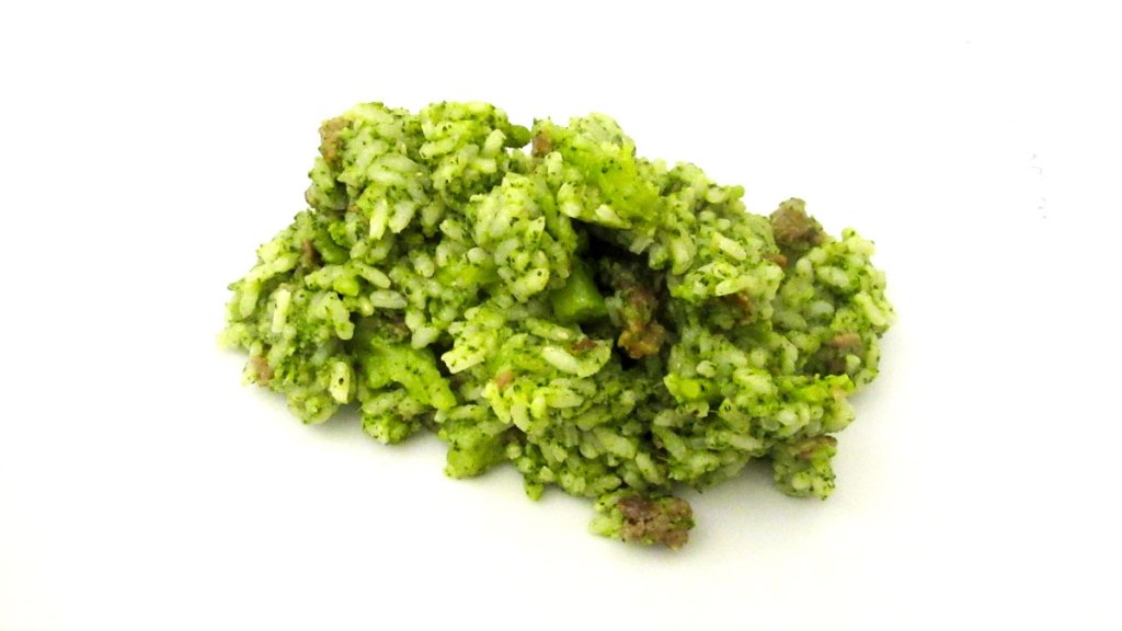 Riso con i broccoli e salsiccia