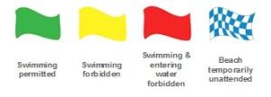 Algarve beach flags