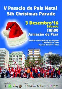 Santa Claus walk December in the Algarve
