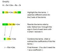 Simplifying Algebraic Expressions Worksheet Answer Key ...