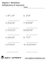 Print the Free Multiplication Exponents Algebra 1 ...