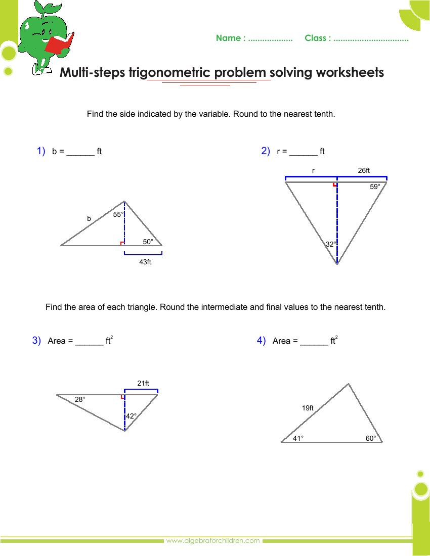medium resolution of Basics trigonometry problems and answers pdf for grade 10