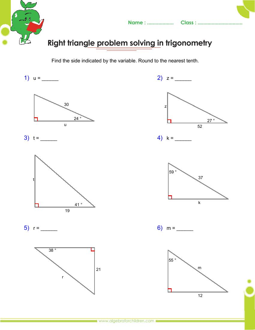 hight resolution of Basics trigonometry problems and answers pdf for grade 10