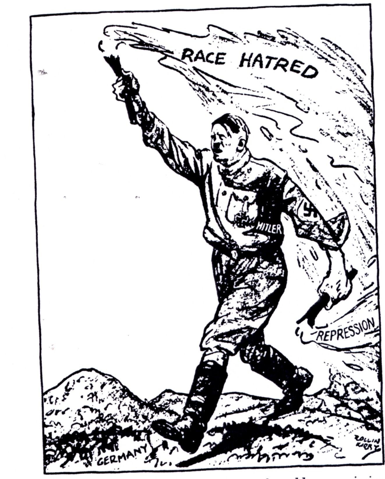 How the US Press Soft-Pedaled Hitler hitler cartoon 3