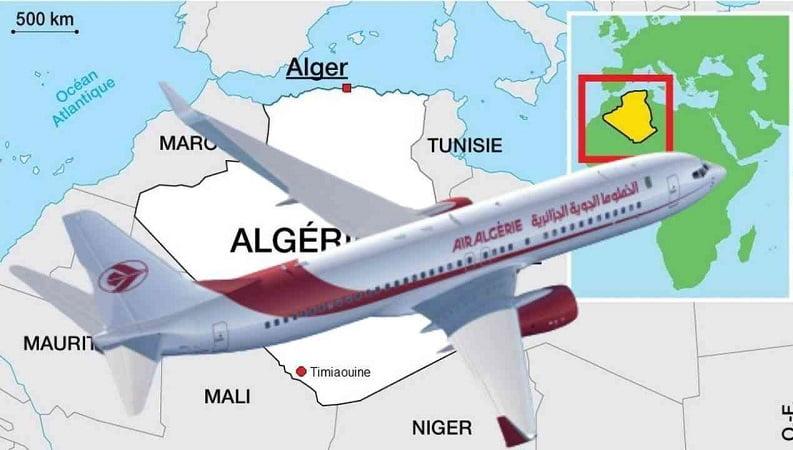 Vols d'Air Algérie et frontières aériennes