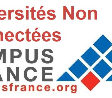 Universités Non Connectées Campus France 2020