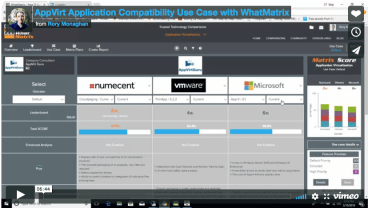 Application compatibility with WhatMatrix