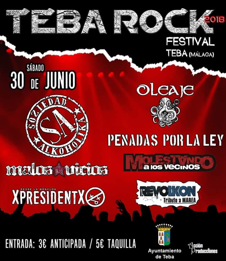 TEBA ROCK publican los horarios de las actuaciones y más noticias