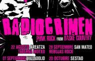 RADIOCRIMEN presentan las nuevas fechas de su gira
