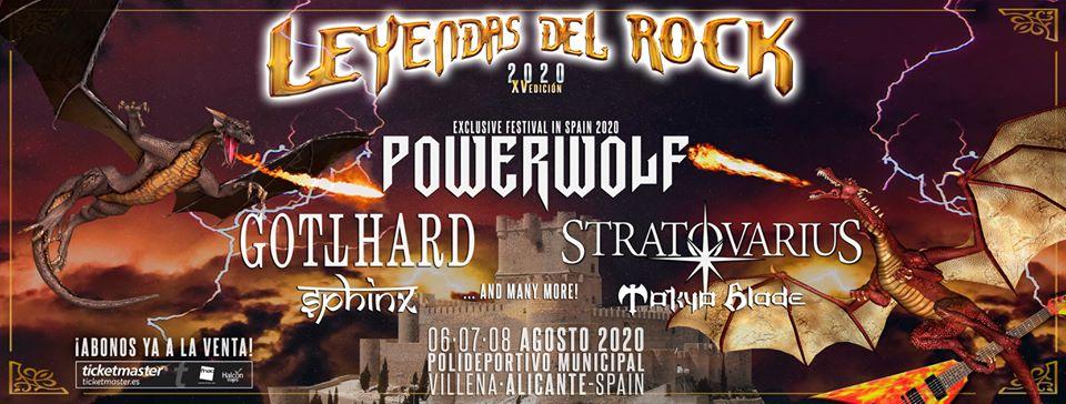 LEYENDAS DEL ROCK 2020 – XV ANIVERSARIO – 6, 7 Y 8 DE AGOSTO (VILLENA)