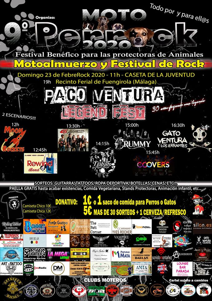 9º FESTIVAL PERROCK 2020 – 23 DE FEBRERO – FUENGIROLA (MÁLAGA)