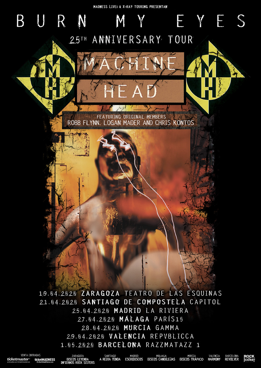 MACHINE HEAD- GIRA POR ESPAÑA