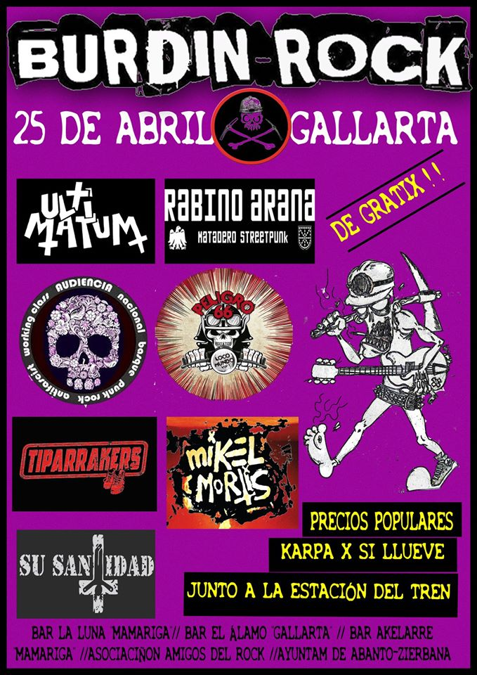 6º BURDIN ROCK 2020 – 25 DE ABRIL – GALLARTA
