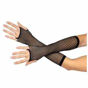 Triangle Net Fingerless Arm Warmer Gloves by Leg Avenue