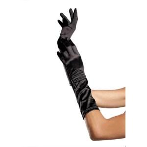 Satin Elbow Length Costume Gloves by Leg Avenue