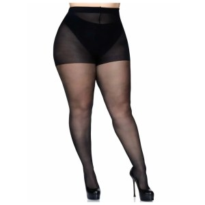 Cadi Plus Size Sheer Backseam Pantyhose by Leg Avenue