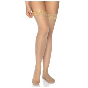 Plus Nora Thigh High Stay Up Lace Stockings in 4 colors