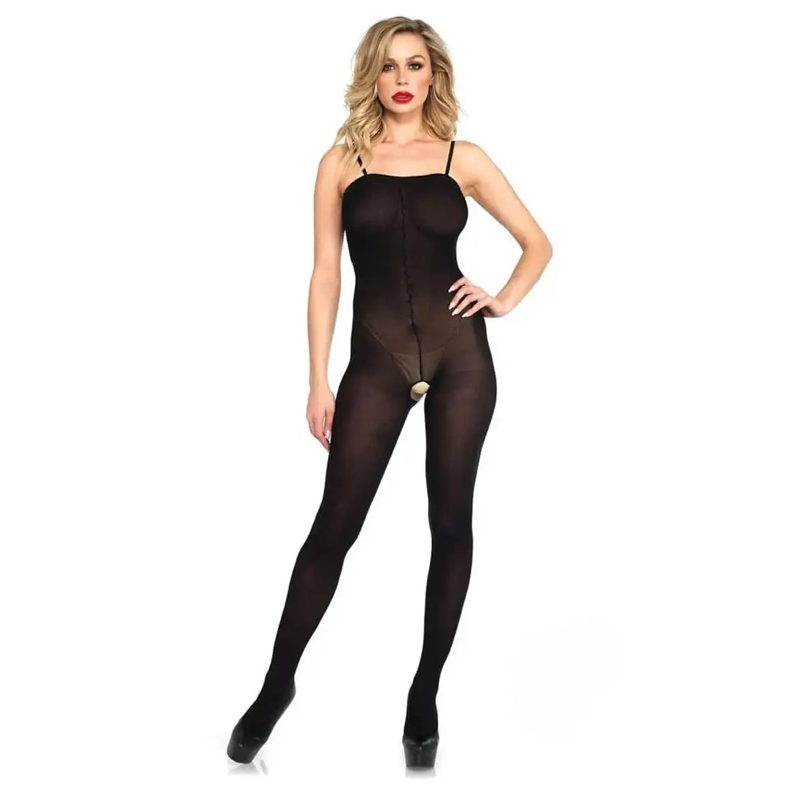 Sweet Emotions Opaque Bodystocking by Leg Avenue