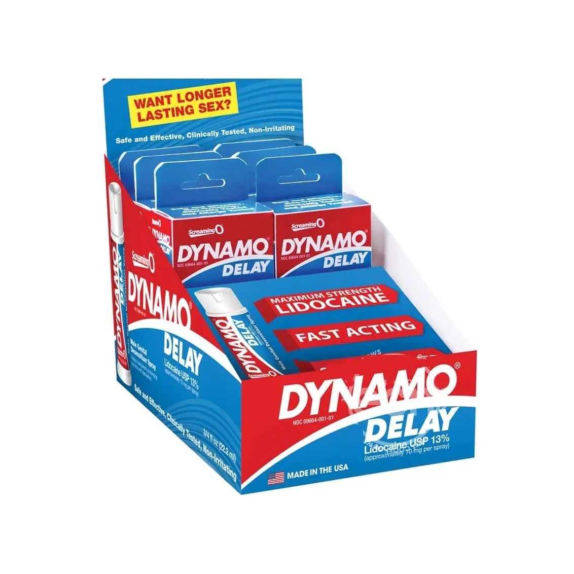 Dynamo Male Desensitizing Delay Spray – 6 pack