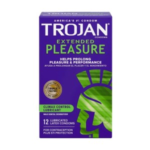 Trojan Extended Pleasures Condoms 12 Pack