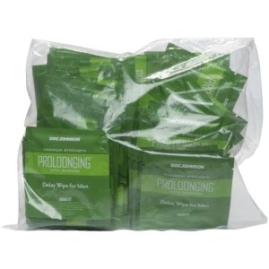 Proloonging with Ginseng - Delay Wipes for Men - Bag of 48