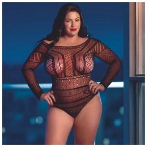 Scandal - Plus Size Off The Shoulder Bodysuit - by Calexotics