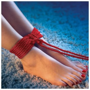 Scandal BDSM Rope - Black and Red - 32 and 98 inches