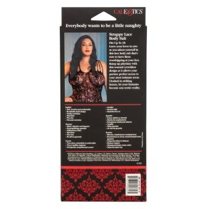 Scandal Plus Size Strappy Lace Body Suit - by Calexotics