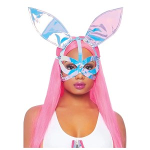 Holographic Vinyl Bunny Ear Harness Mask – by Leg Avenue