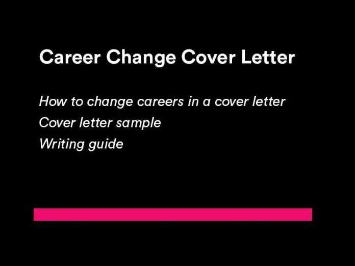 Best Career Change Cover Letter Examples Algrim Co
