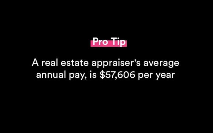 अचल संपत्ति मूल्यांकक वेतन